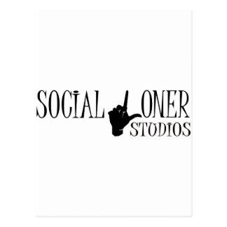 Social Loner Logo - New Postcard
