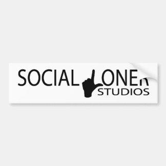 Social Loner Studios Car Bumper Sticker