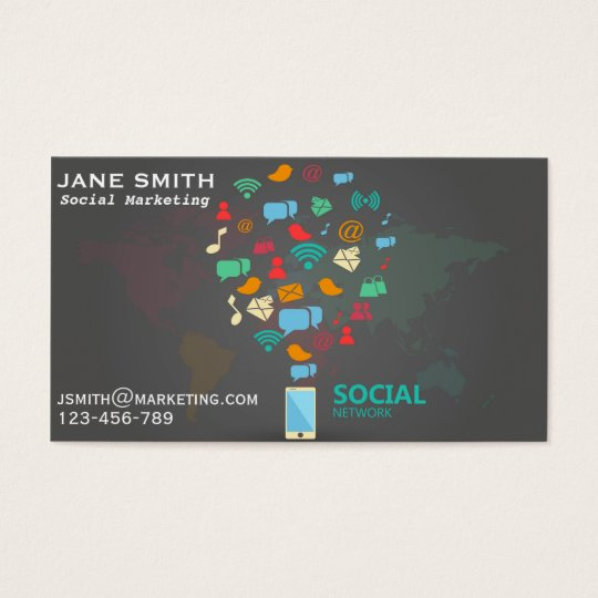 Social marketing professional freelance business card zazzle social marketing professional freelance business card colourmoves