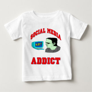 Social Media Addict Baby T-Shirt