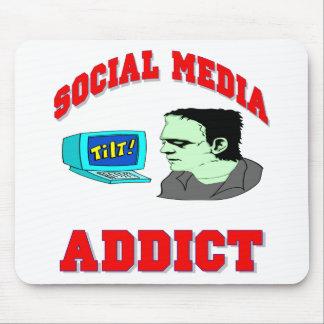 Social Media Addict Mouse Pad
