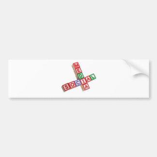 Social media bumper sticker