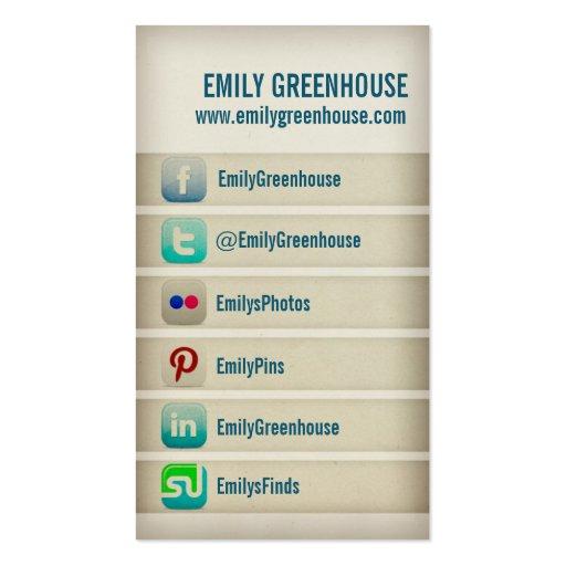 Social media business card Twitter