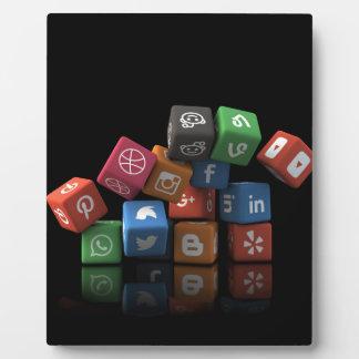 Social Media Collage Overloaded Vibrant Color Icon Plaque
