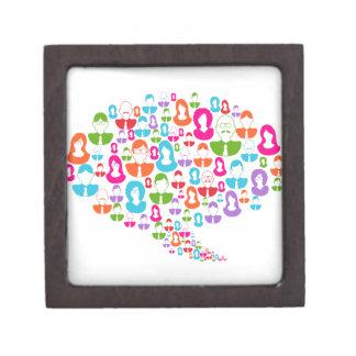 Social Media Communication Speech Bubble Gift Box