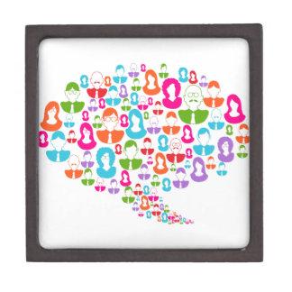 Social Media Communication Speech Bubble Jewelry Box