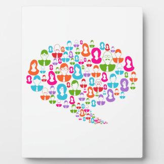 Social Media Communication Speech Bubble Plaque