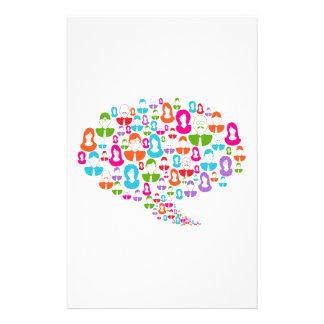 Social Media Communication Speech Bubble Stationery