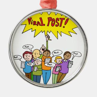 Social Media Competition Metal Ornament