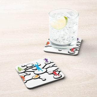 Social Media Connections Diagram Drink Coaster