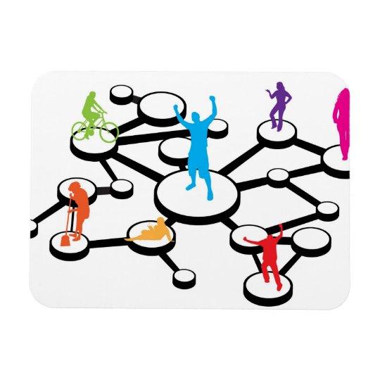 Social Media Connections Diagram Magnet