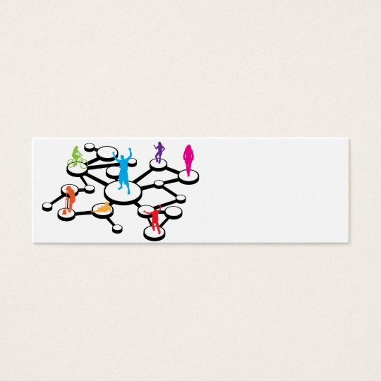 Social Media Connections Diagram Mini Business Card