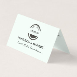 Mints logo business cards templates zazzle social media consultant minted business card colourmoves