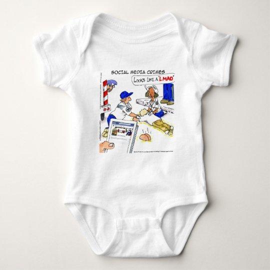 Social Media Crimes Funny Baby Bodysuit