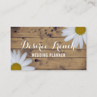 Social Media | Daisy Wildflowers Wedding Planner Business Card