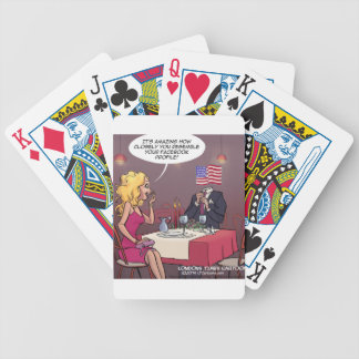 Social Media Dating Funny Bicycle Playing Cards