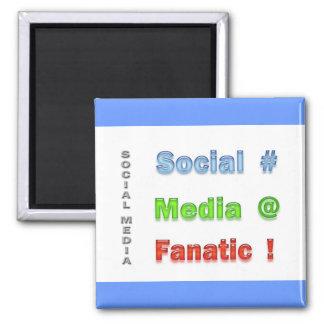 Social Media Fanatic Fridge Magnet