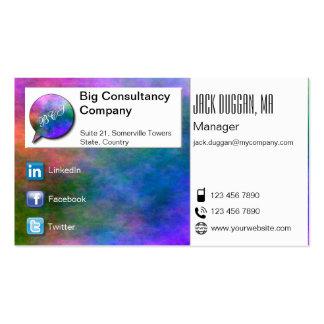 Social Media Focused Watercolor Effect Designed Business Card