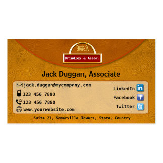 Social Media Focused With Gold Effect Design Business Card