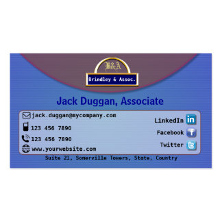 Social Media Focused With Shade of Blue Design Business Card