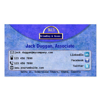 Social Media Focused With Textured Blue Design Business Card