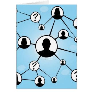 Social Media Friends Diagram Card