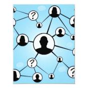 Social Media Friends Diagram 4.25x5.5 Paper Invitation Card