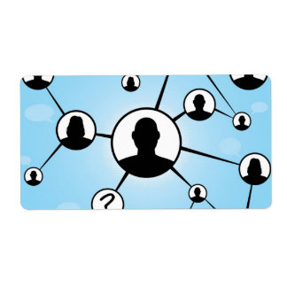 Social Media Friends Diagram Label
