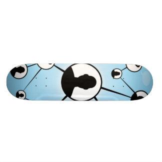 Social Media Friends Diagram Skate Board Deck