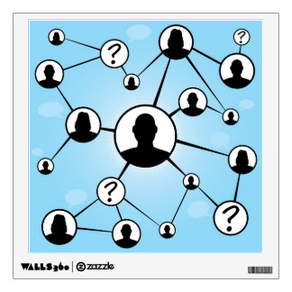 Social Media Friends Diagram Wall Decal