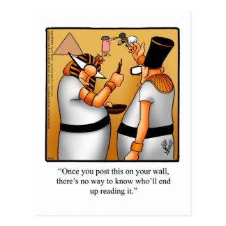 """Social Media Humor Postcard """"Spectickles"""""""