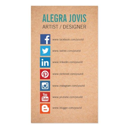 instagram business card templates bizcardstudio. Black Bedroom Furniture Sets. Home Design Ideas