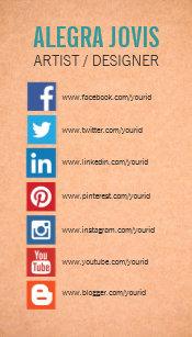 Facebook business cards zazzle social media icons symbols business card colourmoves