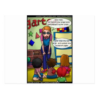Social Media In Kindergarten Funny Gifts & Tees Postcard