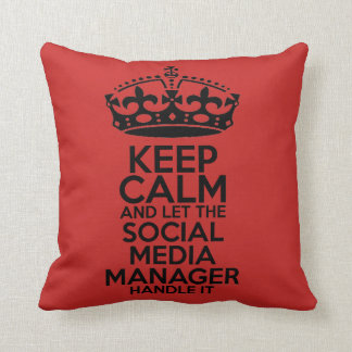 Social Media - Keep Calm Throw Pillow