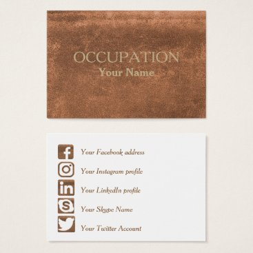 Lawyer Themed Social Media Leather Business Card