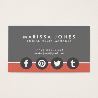 Social Media Business Cards & Templates
