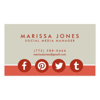 Social Media Icons Business Cards & Templates