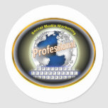 Social Media Marketing Products Classic Round Sticker