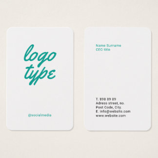 Social Media Minimalist Business Card Template