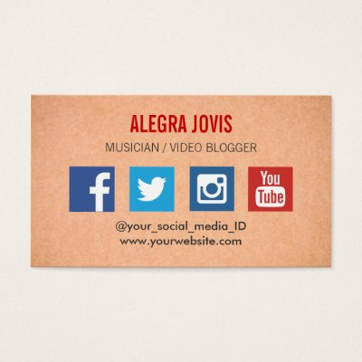 Social media on business cards refined v2 social media business card template business card reheart Gallery