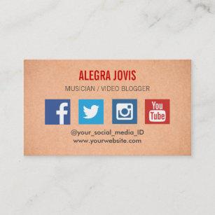 Musician business cards zazzle social media musician you tube business card colourmoves