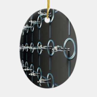 Social Media Network and Interaction Ceramic Ornament