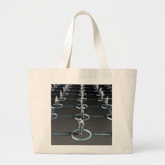 Social Media Network and Interaction Large Tote Bag