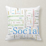 Social Media Related Text Design Pillow