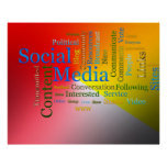 Social Media Related Text Print