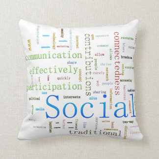 Social Media Related Text white Design Throw Pillow