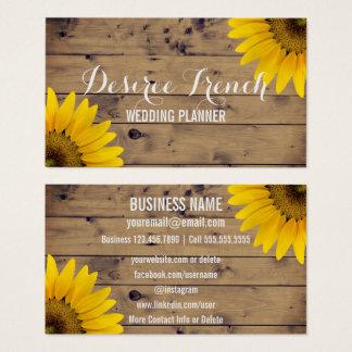 Social Media | Rustic Sunflowers Wedding Planner Business Card