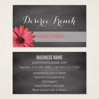 Social Media | Rustic Wedding Planner Chalkboard Business Card