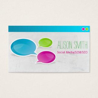 Social Media SEM SEO Business Card
